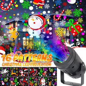16 Modèles Noël LED Clair Projecteur Laser Extérieur Intérieur Lampe