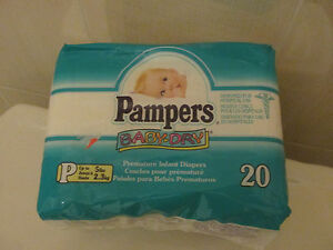 Vintage Pampers Baby Dry Diapers For Preemies From 1997