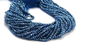 3-4mm-Beautiful-Blue-Coated-Pyrite-Gemstone-Rondelle-Faceted-Loose-Beads-13-034