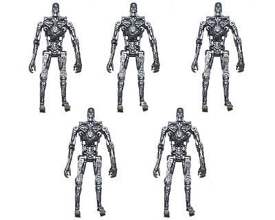"Lot of 5 Terminator T-800 Endoskeleton 3.75"" Loose Action Figure"