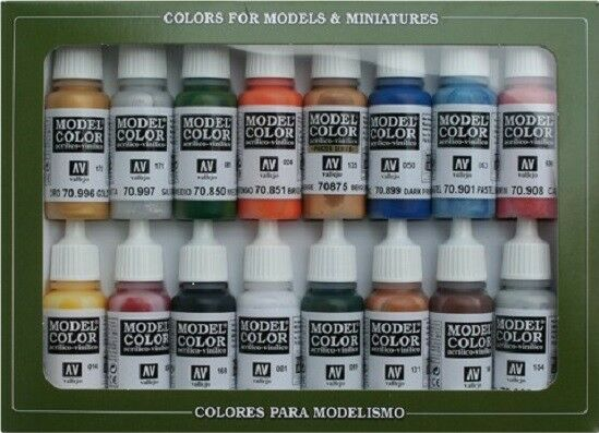 Vallejo 70101 Folkstone Basics 16 Colour Acrilic Paint Set Ebay