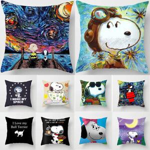 Home-Decor-Cute-Snoopy-Pillow-Case-Car-Bedroom-Sofa-Dog-Pillowcase-Cushion-Cover