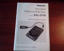 Panasonic Quad Speed PCMCIA CDROM Player User's Manual Model : KXL-D740