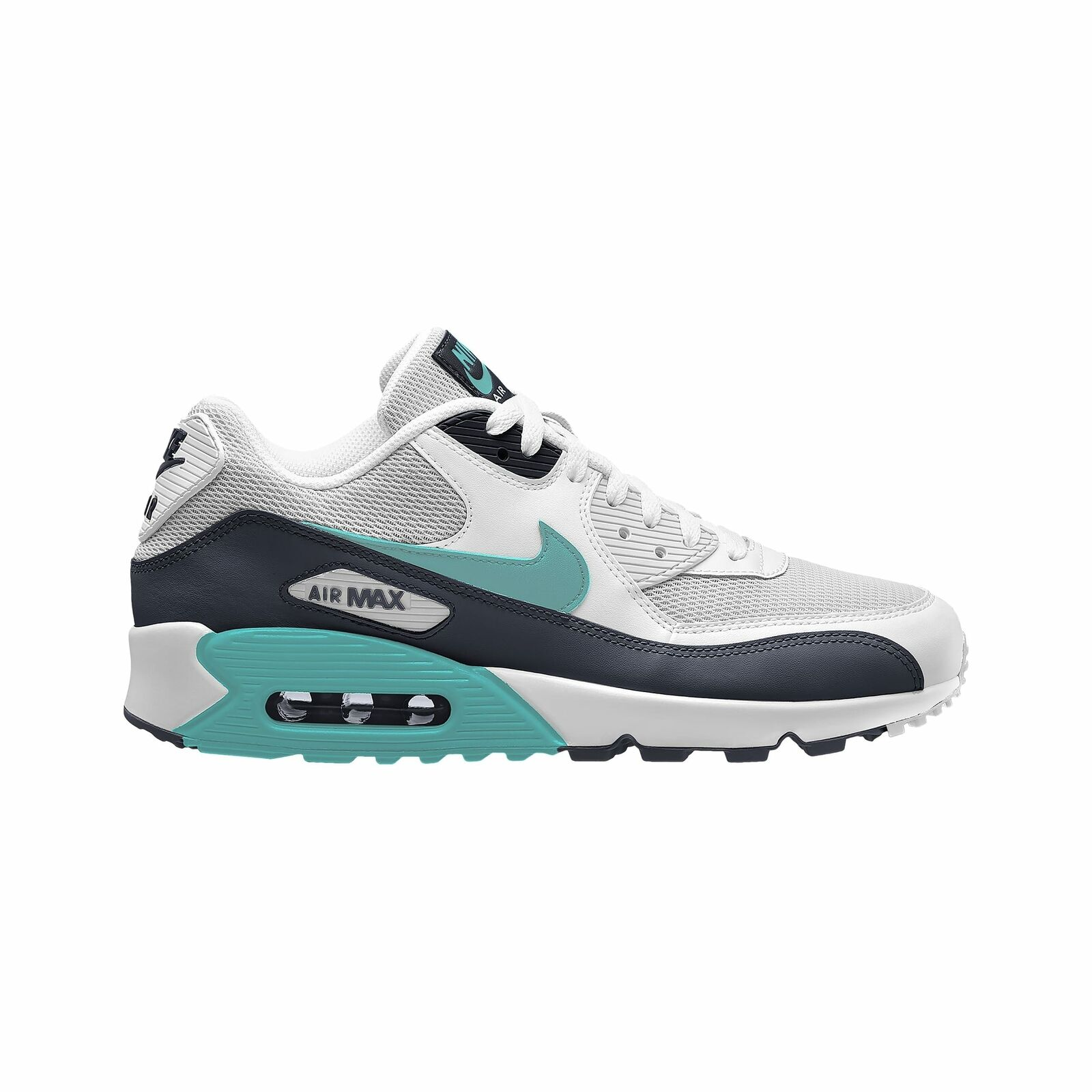 Nike Air Max 90 - Men's White Aurora Green Aurora Green Obsidian J1285102