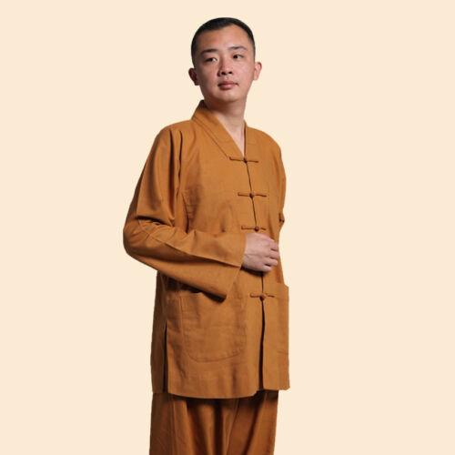 hot Tunic Shaolin Kung Fu Buddhist meditation clothing cotton linen martial arts