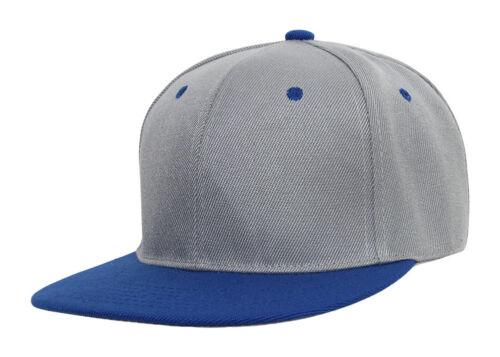 TopHeadwear Cotton Two-Tone Flat Bill Snapback