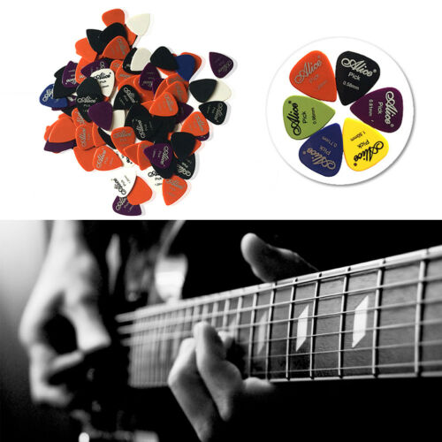 Alice Acoustic Electric Guitar Picks Plectrums  Box Case F8