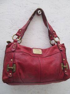 Fossil À Cuir Main Sac Bag Vintage Authentique Pqtw4I