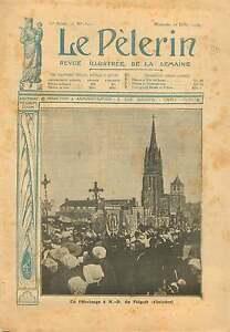 Pelerinage-Basilique-Notre-Dame-du-Le-Folgoet-Bretagne-France-1906-ILLUSTRATION
