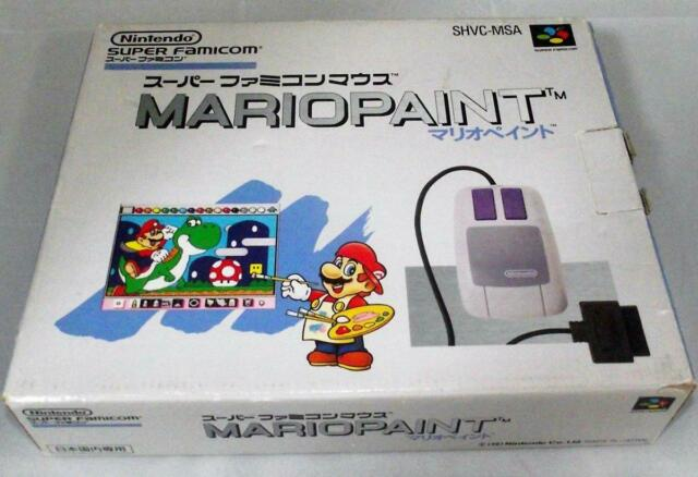 Boxed Mario Paint Mouse and Pad Super Famicom SNES NTSC-J