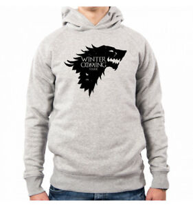 Of Uomo Serie Tv Games Is Coming Il Thrones Winter Stark Tro Cappuccio Felpa Con 8wpqEA8S