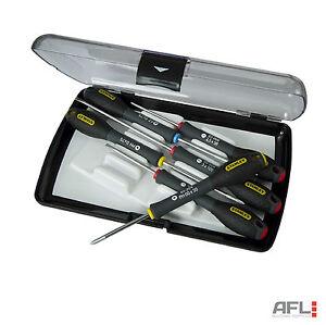 stanley fatmax 0 65 492 colour coded precision screwdriver set of 6 ebay. Black Bedroom Furniture Sets. Home Design Ideas
