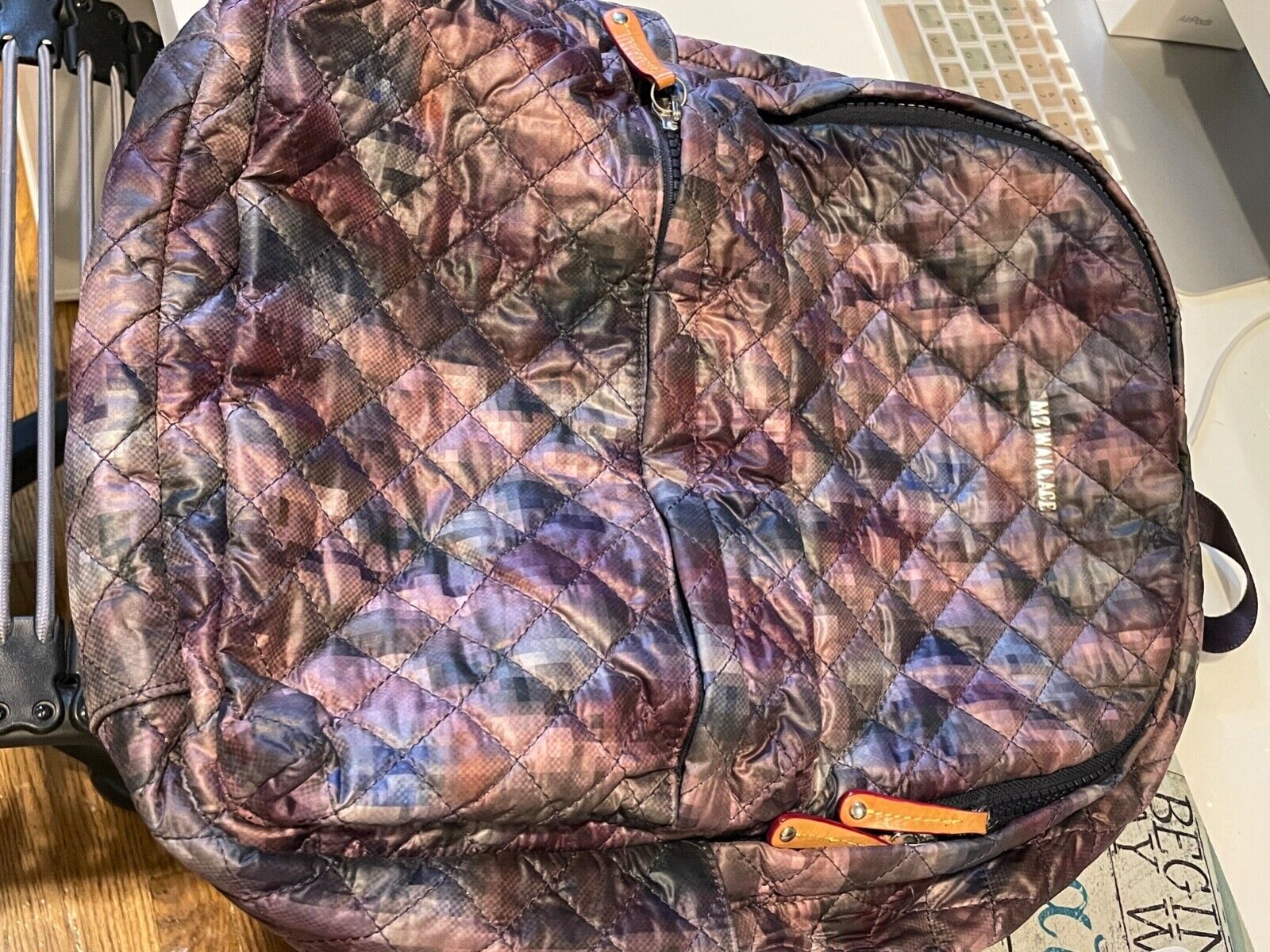 MZ Wallace Quilted Metro backpack in Pixel (retired print)... Barely used!