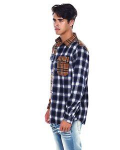 Smoke-Rise-Wheat-Split-Pattern-Flannel-Shirt