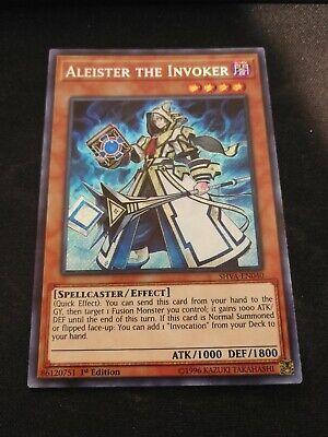 YugiohAleister the Invoker Secret Rare 1st Edition NM SHVA-EN040