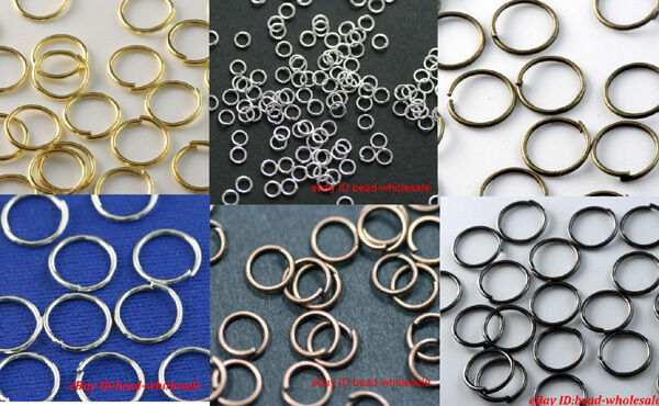 300pcs/2000pcs Silver Plated Open Jump ring Craft Jewelry End Findings Beads