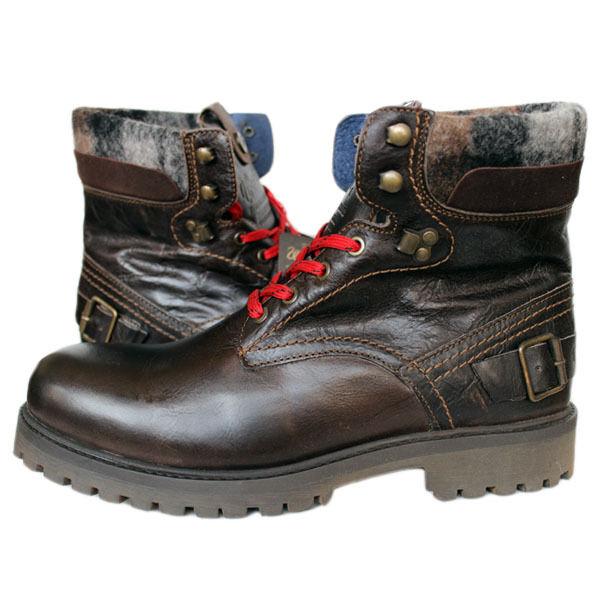 Wrangler Yuma Custer WM122090 Ebony Schuhe Boots Stiefel Gr 44-46 schwarz Leder