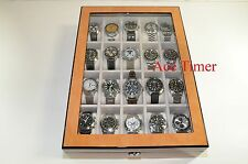 20 Watch (Premium Series) 1 Level Bird's Eyes Maple Display Case Box + Gift