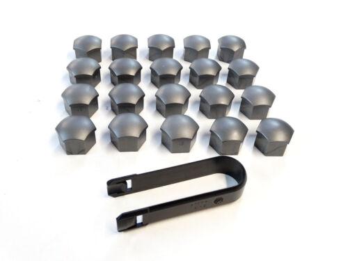 20 Audi originales tapa para tornillos gris apertura de llave 17 incl extractor