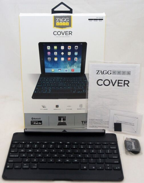 NEW Zagg Cover iPad Air Bluetooth Keyboard backlit keys laptop hinged case dock