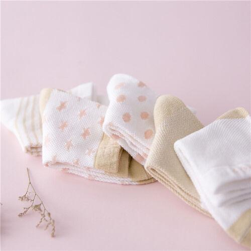 5 Pairs Baby Boy Girl Kids Star Cotton Socks Cute Newborn Infant Toddler Booties