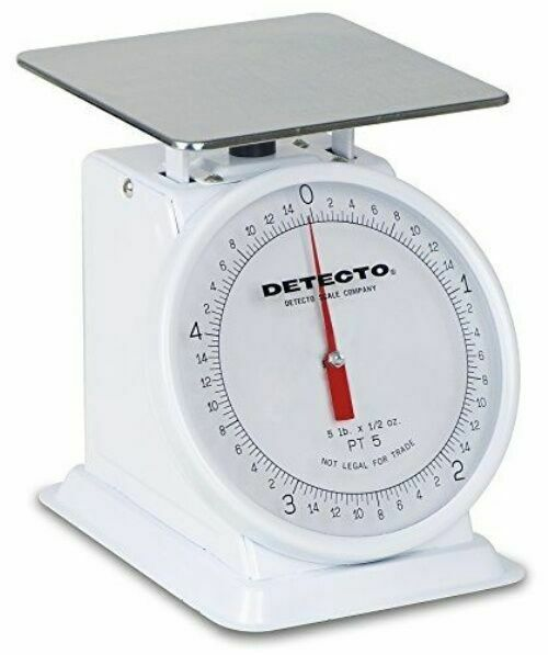 Detecto Top Loader 5 LB X 1//2 Oz Enamel Finish 6 Fixed Dial Pt-5 Loading Scale for sale online