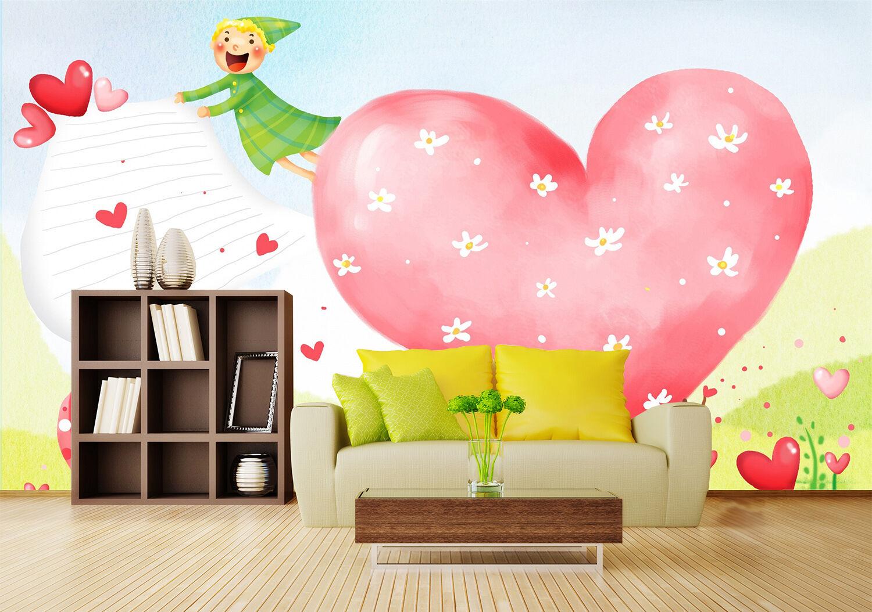 3D Cute heart 3773 Wall Paper Print Wall Decal Deco Indoor Wall Murals