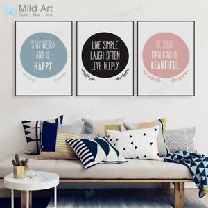 Modern Life Quotes A4 Poster Print Girl Room Home Decor Wall Art