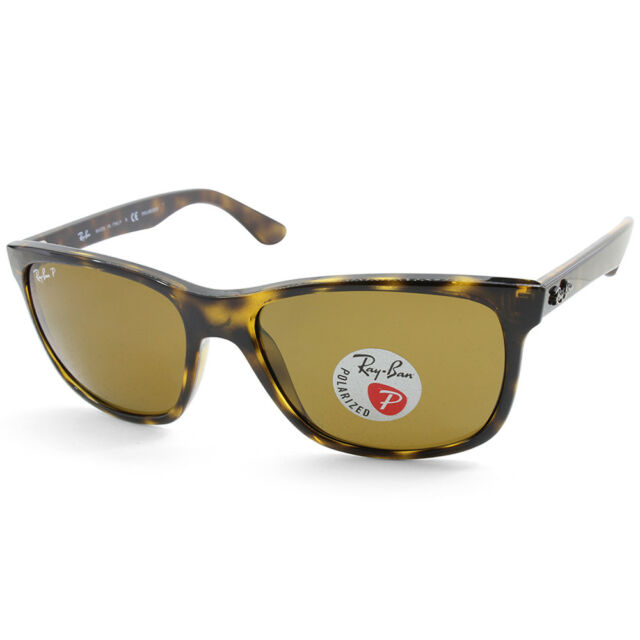 Ray-Ban Highstreet RB4181 710/83 Light Havana/Brown Polarised Unisex Sunglasses