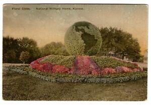 United-States-Unique-Vintage-Hand-Coloured-Postcard-Floral-Globe-4-Unused