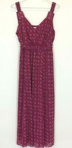 Autograph-Womens-Pink-Sleeveless-Lined-Dress-with-Tie-Belt-Size-18