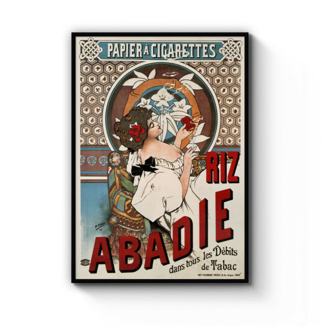 Vintage Abadie Cigarette Advert Retro Decor Art Poster Print Artwork Framed
