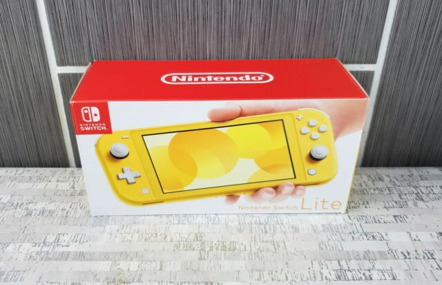 Nintendo Switch Lite Yellow Handheld Video Game System Console HDH-001 w AC