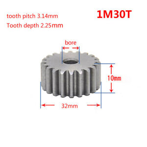 10PCS 45# Steel Spur Motor Gear 1Mod 15T OD 17mm Bore 5//6//6.35//7//8mm #MW36 QL