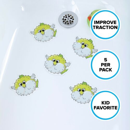 5 Per Pack in Green by SlipX Solutions Puffer Fish Tub Tattoos