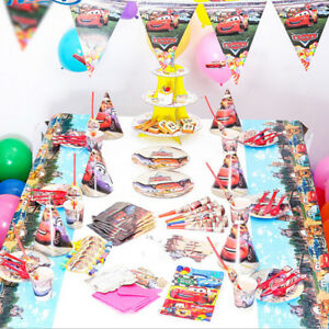 Image Is Loading Disney Pixar Cars Birthday Party Set Tableware Decorations