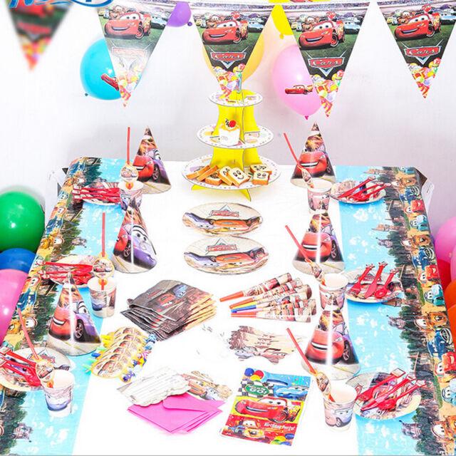 Disney Pixar Cars Conjunto De Fiesta De Cumpleaños Vajilla Decoración Globos de suministros