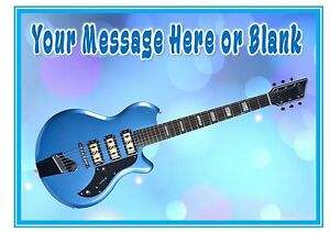 ND3 Blue Guitar birthday personalised A4 cake topper icing sheet eBay