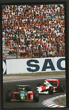AYRTON SENNA McLAREN MP4/5 NANNINI BENETTON B189 1990 F1 COLOURCHROME PHOTOGRAPH