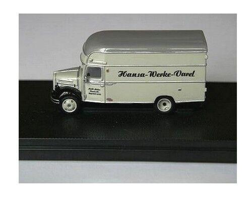 Borgward B 2500 fourgon Hansa Werke - NPE -  Echelle 1 87 (Ho)