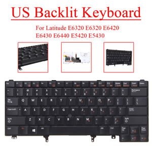 New Keyboard for Dell Latitude E6320 E5420 E5430 E6420 E6430 US W Backlit 24P9J