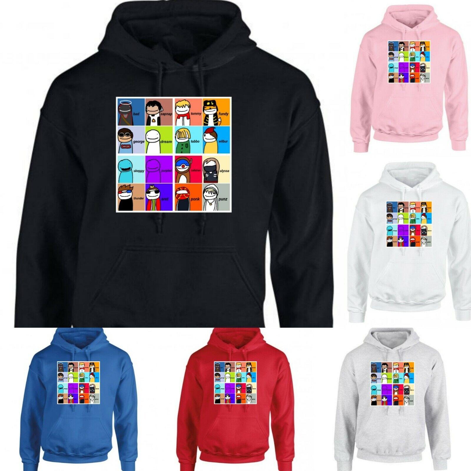 Mugshot Dream SMP team member youtuber gamer boy girl kid's men women hoodie