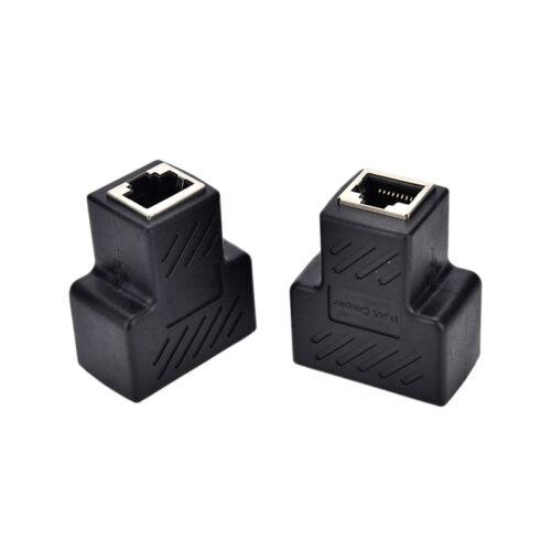 1 To 2 Lan Ethernet Network Cable Rj45 Splitter Extender Plug Connector Adapt WL