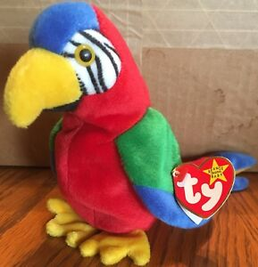 Image is loading Jabber-the-Parrot-Ty-Beanie-Baby-1998-With- ac28f030ea2e