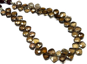 PH-006-AAA-Cut-Smoky-Quartz-Cushion-Checker-Faceted-Beads-7mm-8mm-79-Cts-8-5-034