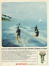 Publicité Advertising 1967  JOHNSON moteur de bateau  ..