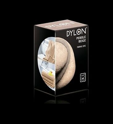 400g PEBBLE BEIGE COLOUR DYLON MACHINE WASH FABRIC CLOTHES DYE 2 X 200g BOXES