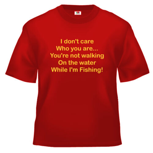 Funny while i/'m fishing religious T Shirt 100/% cotton all sizes and colours