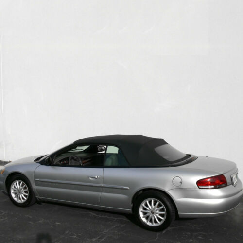 Sebring Convertible Top 96-06 in White Sailcloth Vinyl with Plastic Window