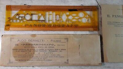 Collezione Qui Antico Normografo, Panormografo Aldo Bernetti Foligno, Custodia E Istruzioni